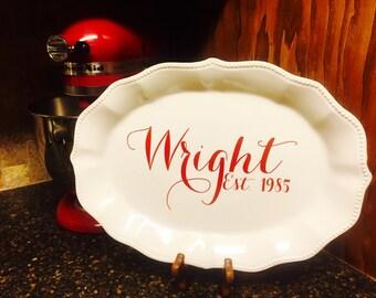 Personalized Kitchen Platter