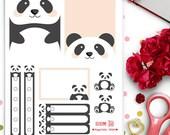 Panda Weekly Theme Planner Stickers |  Erin Condren | Life Planner | Horizontal & Vertical | Cute | Animals