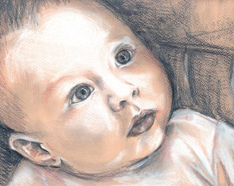 Custom made Baby / Pregnancy Portrait Commission