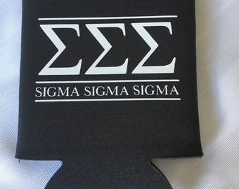 Sigma Sigma Sigma Can cooler (multiple colors available)