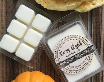 Pumpkin Pancakes Soy Tart Wax Melts | Hand Poured | Clamshell | Fall Scent