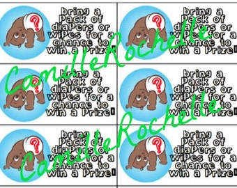 """Baby Shower """"Bring Diapers & Wipes"""" Invitation Insert 2"""