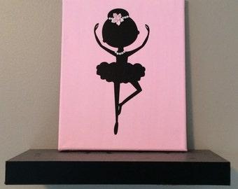 Ballerina Nursery Wall Decor, Girls Canvas