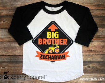 Big Brother Shirt - Construction Shirt - Personalized Big Brother Shirt - Construction Party - Big Brother T Shirt - Big Brother Tee Shirt