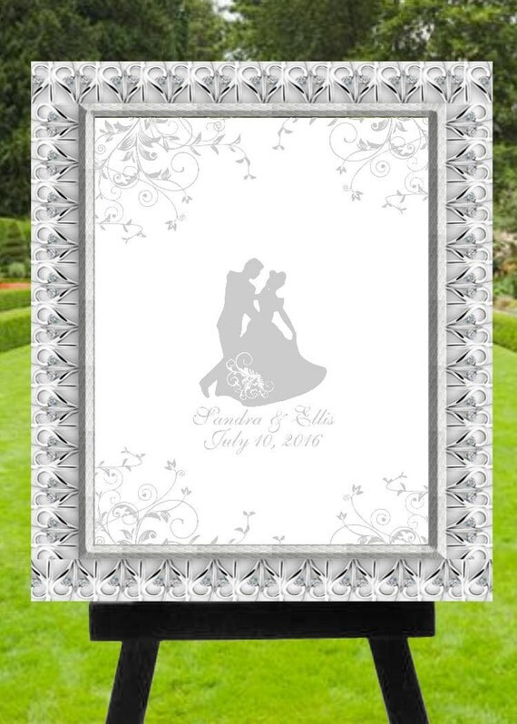 Alternative Silver Wedding Gifts : Silver Cindrella Waltz Wedding Guest Book AlternativeRustic Wedding ...