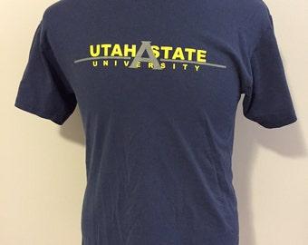 Vintage Utah State University T-Shirt Medium