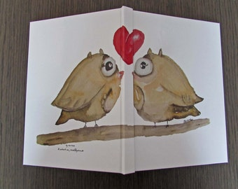 Hardcover notebook 2 owls