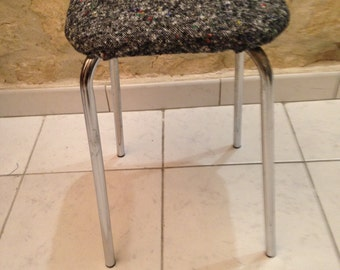 Stool tweed retro vintage modern industrial loft