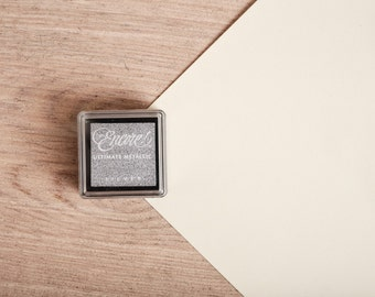 Silver Metallic - Rubber Stamp Mini Ink Pad
