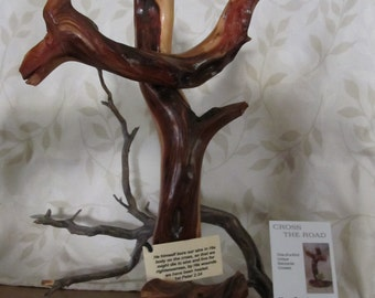 Manzanita wood cross