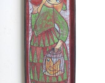 Marianne Starck for Michael Andersen - Large Dish - Persia Glaze, 1950s Danish design - Scandinavian Modern Art