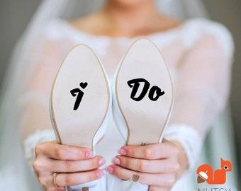 Wedding Decals - I Do Shoe Sticker - I Do Stickers - Something Blue for Bride - Bottom of Shoe - Shoe Sticker - Wedding Stickers - I Do Shoe
