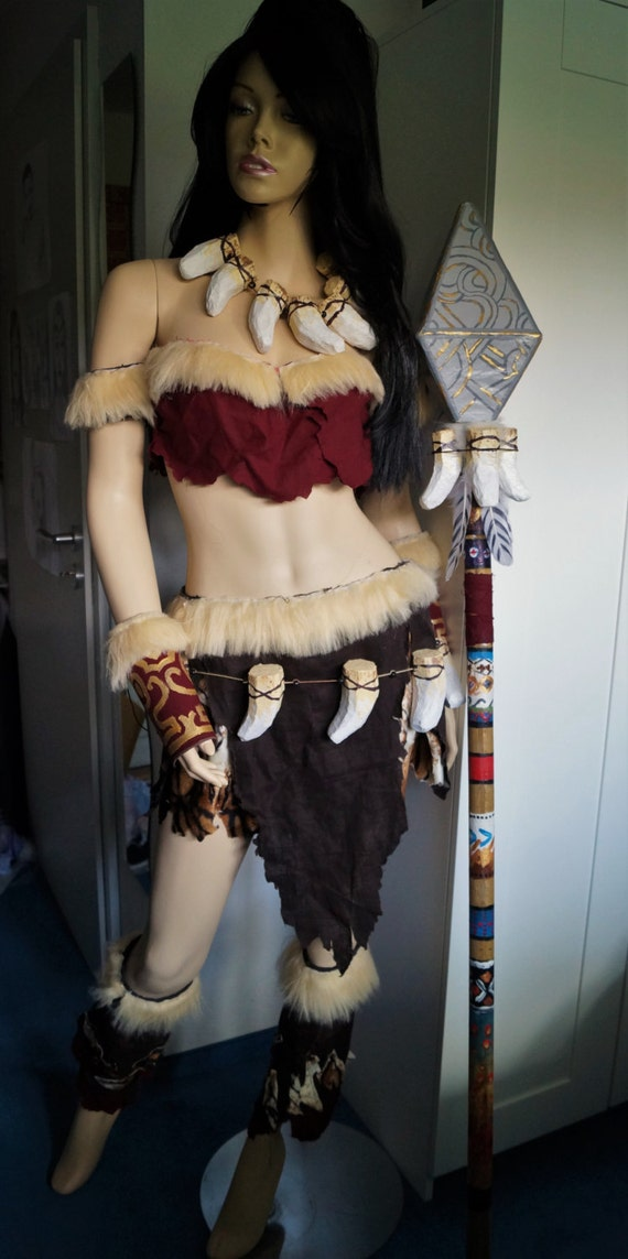 nidalee cosplay league of legends nida kost m mit ketten. Black Bedroom Furniture Sets. Home Design Ideas