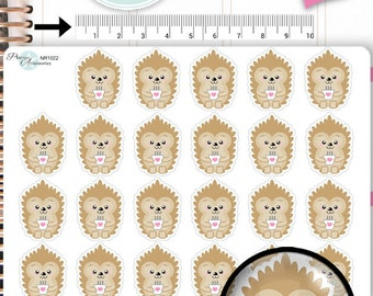 Hedgehog Stickers Coffe Stickers Lazy Day Stickers Coffee Stickers Planner Stickers Erin Condren Functional Stickers NR1022