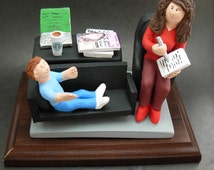 Child Psychiatrist's Figurine, Therapist's Graduation Gift, Custom Therapist's Gift - Adolescent Therapist Gift - Child Counsellor's Gift,