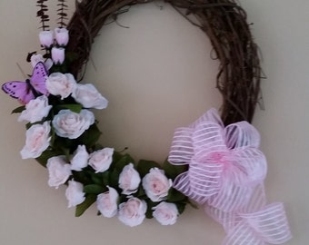 Pale Pink Rose Wreath