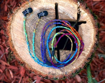 Handmade bohemian personalized threaded headphones