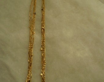 Reduced Price-Gold Vintage 7 Chain Necklace