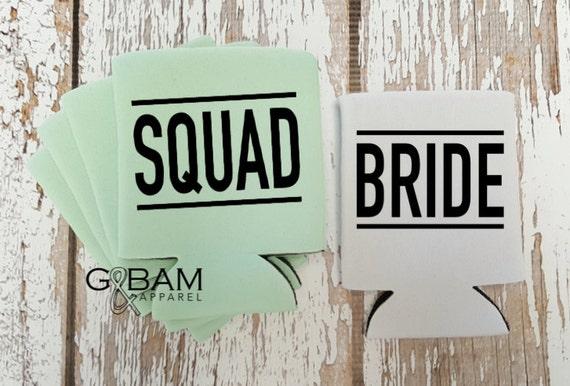 Bride & Squad can cooler / Bachelorette party favor / Bachelorette gift
