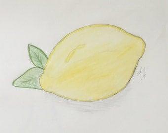 Lemon Pencil Illustration