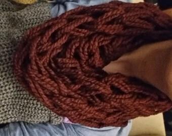 Wrist knit scarves