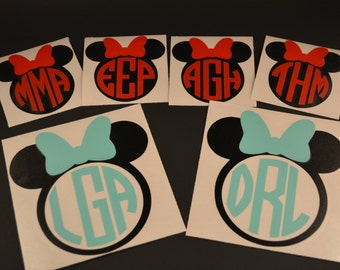 Mickey Mouse Decal, Minnie Mouse Decal, Magic Band Decal,  Yeti Decal, Phone Decal, Disney Decal, MacBook Decal, Monogram Decal, Mickey Ears