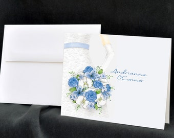 personalized wedding custom note cards at the enchanted envelope