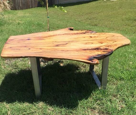 Live Edge Coffee Table Room: Live Edge Coffee Table Pecan