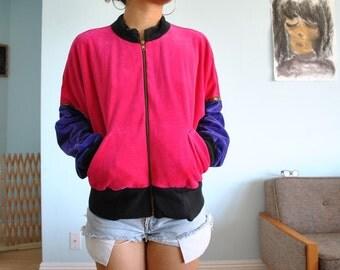 Vintage sz M tri-color jacket 80s 90s