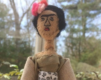 Frida Kahlo Soft sculpture, Felt Sculpture