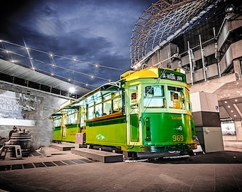 Melbourne photography fine art photograph city wallart urban decor and W-class trams FREE SHIPPING within AUSTRALIA