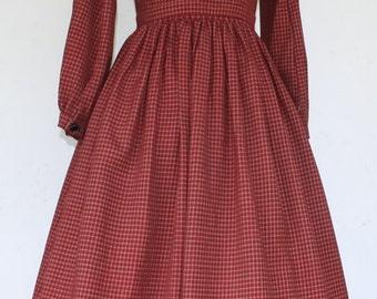 1860's, Civil War Era Authentic Reproduction Girl's Wool Dress