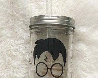 Harry Potter Mason Jar Tumbler