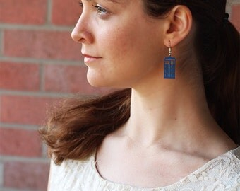 Tardis Earrings - Doctor Who