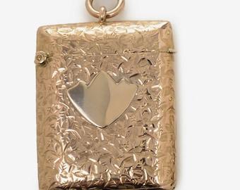 Edwardian 9 Kt. Rose Gold Vesta Case