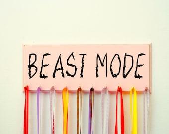 Girls Beast Mode Running Medal Holder Gift For Teens, Gift for Runners, Medal Display, Medal Hanger, Running Medal Holder, Athletic