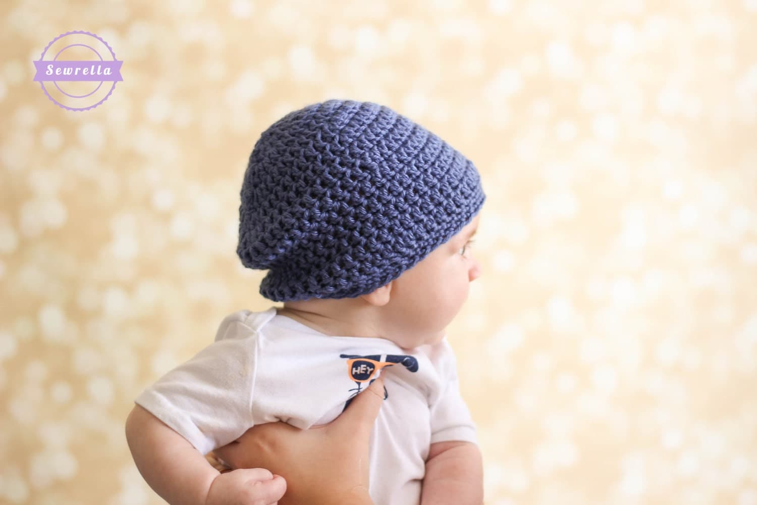 Crochet Slouchy Hat Pattern For Child : Crochet Slouchy Baby Beanie Hat PATTERN pdf instant digital