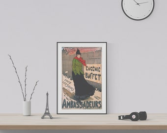 Vintage French Poster Ambassadeurs from 1893 - Museum-quality Reproduction Print