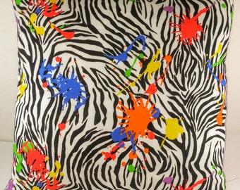 Paint Splatter Pillow