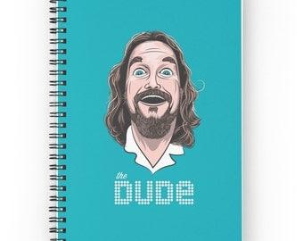 The Dude Journal - The Big Lebowski - Dude Notebook - Movie Journal - Coen Bros - Spiral Notebook - Spiral Journal - Aqua Blue Diary