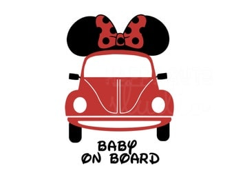 Baby on Board with Mickey Ears  Maternity Baby/Minnie Ears Disney Mom to be Pregnancy Announcement Disney Iron On Vinyl Decal 4 Shirt 463