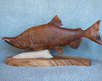 Sockeye Salmon Carving