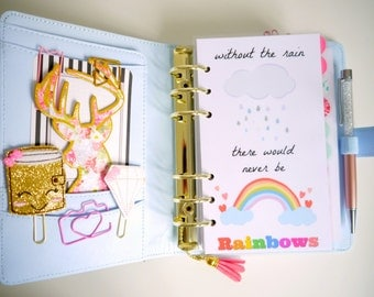Without The Rain There Would Never Be Rainbows Personal, A5 & Pocket Size Planner Dashboards