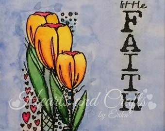 Just have a little Faith - 8x10 Matted Water-colored Photo (MAT-WCP-0013)