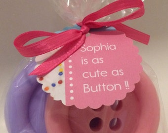 Cute as a Button Soap Baby shower or party favors.