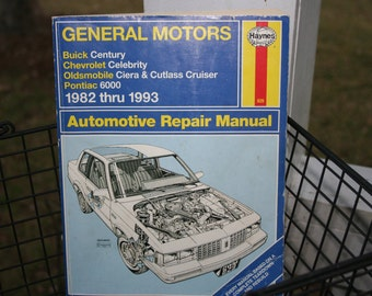 General Motor Automobile Repair Manual 1982 - 1993