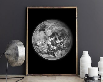 Earth poster, Printable wall art, Office decor, School wall art, Living room or bedroom wall decor,
