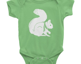 Squirrel Onesie | Squirrel Shirt | Squirrel Tee shirt | Squirrel Baby Gift | American Apparel | Woodland Animal Baby Gift | Gender Neutral