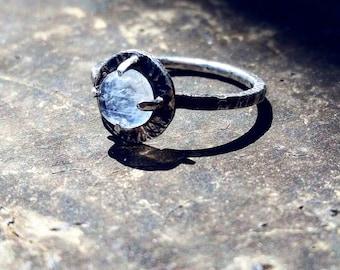 Rainbow Moonstone Ring Sterling Silver Rainbow Moonstone Ring Gothic Moonstone Ring Gothic Ring Gothic Jewelry Rainbow Moonstone Jewelry