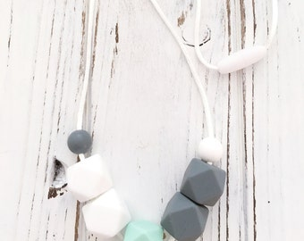 Hexagon Teething & Nursing Necklace.